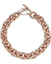 Amanda Wakeley - Chunky Rose Gold Necklace - Lyst