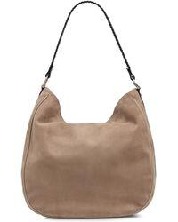 Amanda Wakeley | Large Suede Mara Hobo Bag In Sand | Lyst