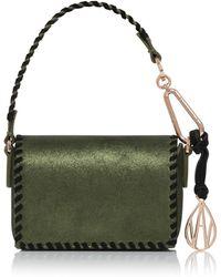 Amanda Wakeley | Metallic Khaki Micro Costello Bag | Lyst