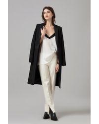Amanda Wakeley | Black Sculpted Tailoring Coat | Lyst