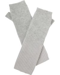 Amanda Wakeley - Hamada Silver Cashmere Gloves - Lyst