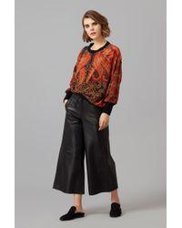 Amanda Wakeley - Printed Crepe De Chine Sweatshirt - Lyst