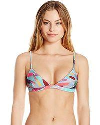 Mara Hoffman - Astrid Triangle Bikini Top Swimsuit - Lyst