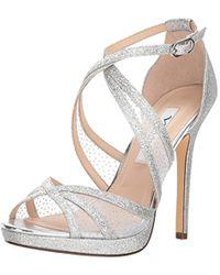fec15724036 Lyst - Nina Fenna Heeled Evening Sandals in Metallic