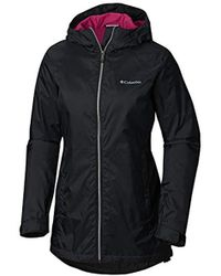 7120926026f Lyst - Columbia Switchback Lined Long Rain Jacket in Black - Save 41%