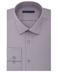 Geoffrey Beene - Sateen Fitted Solid Spread Collar Dress Shirt - Lyst