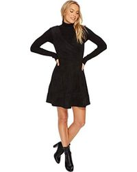 BB Dakota - Lynne Faux Suede Fit And Flare Dress With Embroidery - Lyst