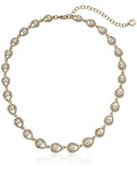 Anne Klein - Gold Tone Pearl Necklace, Size: 0 - Lyst