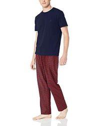Nautica - Short Sleeve Top And Soft Flannel Pajama Pant Pj Set dbd445e71