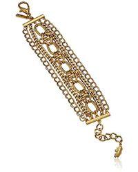 Badgley Mischka - Multi-row Chain Bracelet - Lyst