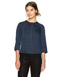 Armani Jeans - 3/4 Sleeve Blouse With All Over Print - Lyst