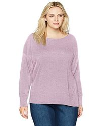 NYDJ - Plus Size Long Sleeve Sweater With Exposed Seams - Lyst