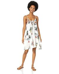 Roxy - Printed Softly Love Cover-up Swimsuit Dress - Lyst
