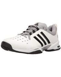 9a26ed05a Lyst - adidas Barricade Classic Wide 4e Shoes in White for Men