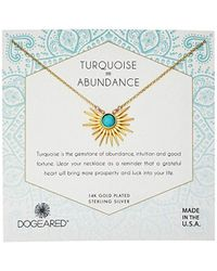 Dogeared - Gold Sun Ray Turquoise Chain Necklace - Lyst