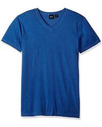 BOSS - Boss Orange Garment Dyed Cotton Slim Flit V Neck Tee Shirt - Lyst