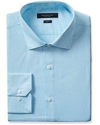 Marc New York - Marc New York Slim Fit Diamond Dobby Gingham Dress Shirt, - Lyst