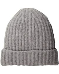 French Connection - Cashmere Feel Ribbed Beanie - Lyst