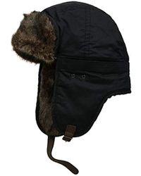 f0e3b22bc2d87 Lyst - Barbour Fleece Lined Trapper Hat Black in Black for Men
