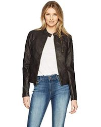 Levi's - Faux Leather Fashion Quilted Racer Jacket - Lyst