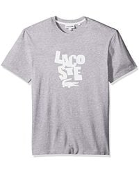 Lacoste - Short Sleeve Graphic Jersey Print Reg Fit T-shirt, Th3263 - Lyst
