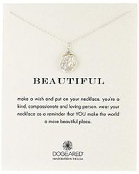 """Dogeared - Beautiful Keshi Pearl Chain Necklace, 18"""" - Lyst"""