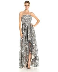 Nicole Miller - Mola Organza High Low Gown - Lyst