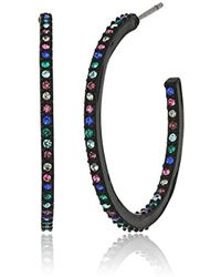 Kate Spade - Enamel Hoops Black Multi-hoop Earrings - Lyst