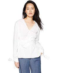 dd5ea223b8a488 Finders Keepers - Fleeting Obi Tie Belt Cotton Blouse Longsleeve Top