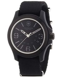 Victorinox - Swiss Army 241369 Officer's Black Dial Watch - Lyst