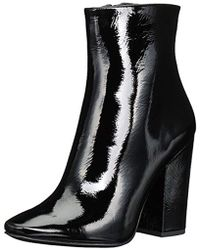 8e1e5d21cba Kendall + Kylie Haedyn 2 Patent Leather Boot in Black - Lyst