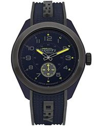 Superdry - 'navigator Military' Quartz Plastic And Silicone Casual Watch, Color:blue (model: Syg214u) - Lyst