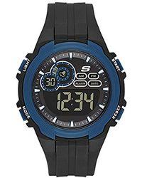 Skechers - Quartz Plastic Casual Watch, Color:black (model: Sr1091) - Lyst