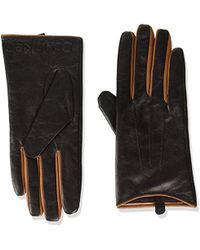 Calvin Klein - Leather Gloves W/color Pop & Debossed Logo - Lyst