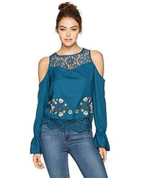 Jessica Simpson - Dara Cropped Cold Shoulder Top - Lyst