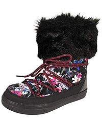 Crocs™ - Lodgepoint Graphic Lace Boot Women's Snow Boots In Black - Lyst
