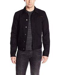 Nudie Jeans - Sonny Dry Black Denim Jacket - Lyst