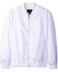 Sean John - Big And Tall Two Tone Linen Bomber - Lyst