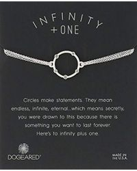 """Dogeared - Small Halo With Crystals On Chain Bracelet, 6""""+1"""" Extender - Lyst"""