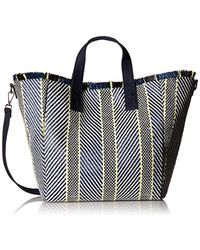 bf7076376ab8 Steve Madden - Rumi Multi Colored Woven Geomtric Pattern Beach Tote With  Zipper Pouch - Lyst