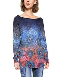 Desigual - Basic Carlin Woman Flat Knitted Thin Gauge Pullover - Lyst