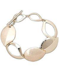 Kenneth Cole - Textured Metals Gold Leaf Flex Link Bracelet - Lyst