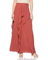 3640ddd45c BCBGMAXAZRIA - Justina Woven Ruffled Maxi Skirt - Lyst