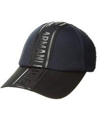 1239bbbdea3 Lyst - Armani Exchange Men s Blue Cotton Hat in Blue for Men