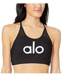 e6e6a75467 Lyst - Alo Yoga Illuminate Bra in Black