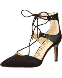 029b63d8f4ed Sam Edelman - Taylor Lace-up Leather And Suede Pumps - Lyst