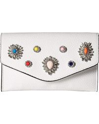 Steve Madden - Crown Non Leather Multi Colored Jewels And Rhinestones Clutch Crossbody - Lyst