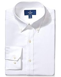 Buttoned Down - Fitted Solid Pinpoint Non-iron Dress Shirt (3 Collars Available) - Lyst