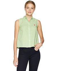 3e14f7e18e88e Gap · U.S. POLO ASSN. - Sleeveless Poplin Shirt - Lyst
