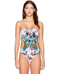 Emporio Armani - Ea7 Graphic Tropical One Piece Swimsuit - Lyst